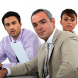 A team of business professionals having a meeting — Stock Photo #16805023