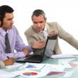 Stock Photo: Market researchers working on project