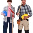 Couple ready for manual labor — Stock Photo #16806771