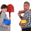 Team of builders — Stock Photo #16806787