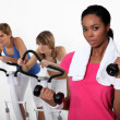 Women exercising. — Stock Photo #16807865