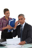 Businessman and his assistant — Stock Photo