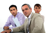 A team of business professionals having a meeting — Stock Photo