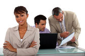 Business professionals working together on a project — Stock Photo