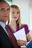 Boss and personal assistant — Stock Photo