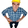 Full length builder - Foto Stock