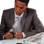 Man counting bank notes — Stock Photo