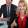 Boss with secretary — Stock Photo #16833071