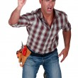 Stock Photo: Angry foreman