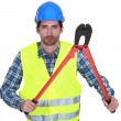 Workers with tongs — Stock Photo #16838495