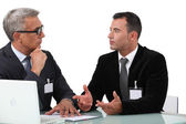 Businessmen having a discussion — Stock Photo