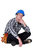 A thoughtful tradesmen — Stock Photo