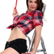 Stockfoto: Attractive painter