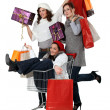 Three womshopping together — Stock Photo #16841121