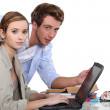 Two teenagers revising together — Stock Photo #16845583