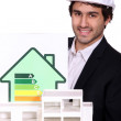 Poster energy consumption and layout of houses — Stock Photo #16847363
