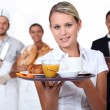 Stock Photo: Catering staff