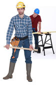 Two male carpenters — Stock Photo