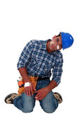 Builder drowsy following accident — Stock Photo
