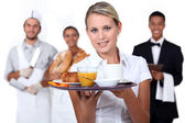 Catering staff — Stock Photo