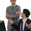 Two businessmen having a discussion — Stock Photo #16850735