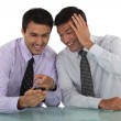 Two businessmen sharing jokes — Stock Photo