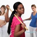 Women doing gym — Stock Photo #16857123
