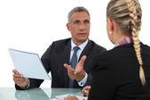 Dois empresários discutindo. — Foto Stock