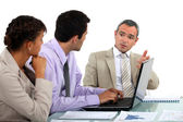 Business in a discussion — Stock Photo