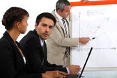 Business team making a presentation — Stock Photo