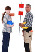 A team of labourers — Stock Photo