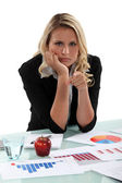 An angry market researcher — Stock Photo