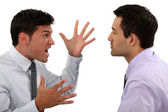 Businessmen quarreling — Stock Photo