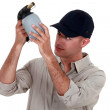 Man with a blowtorch — Stock Photo #17007467