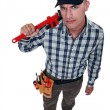 Plumber in top view — Stock Photo #17007669