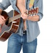 Stock Photo: Mplaying acoustic guitar