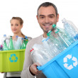 Stock Photo: Recycling plastic bottles