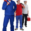 Different manual workers — Stock Photo