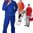 Stock Photo: Manual worker with step ladder