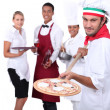 Pizzeria team. — Stock Photo