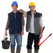 Stock Photo: Construction workers