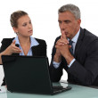 Business partners making decisions — Stock Photo