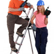 DIY teamwork — Stock Photo