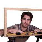 Male framer — Stock Photo #17125133
