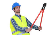 Laborer on white background — Stock Photo