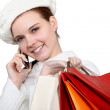 Shopper on the telephone — Stock Photo #17332735