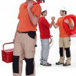 Stock Photo: Plumbing team