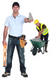 Two handymen — Foto de Stock