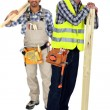 Two woodworkers — Stock Photo