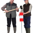 A couple of road workers. — Stock Photo #17345655